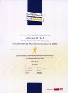 Urkunde Kundenchampion 2010_klein