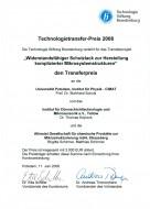Urkunde Technologietransferpreis 2008_klein